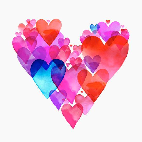 Layered hearts harts Pinterest Layering Clip art