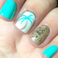 Beachy nails | I Feel Pretty, Oh So Pretty | Pinterest | Nails