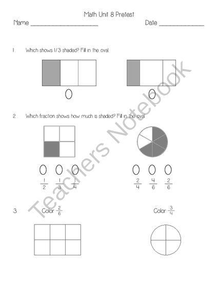 Everyday Math Unit 8 Pretest from Second Grade Superstars