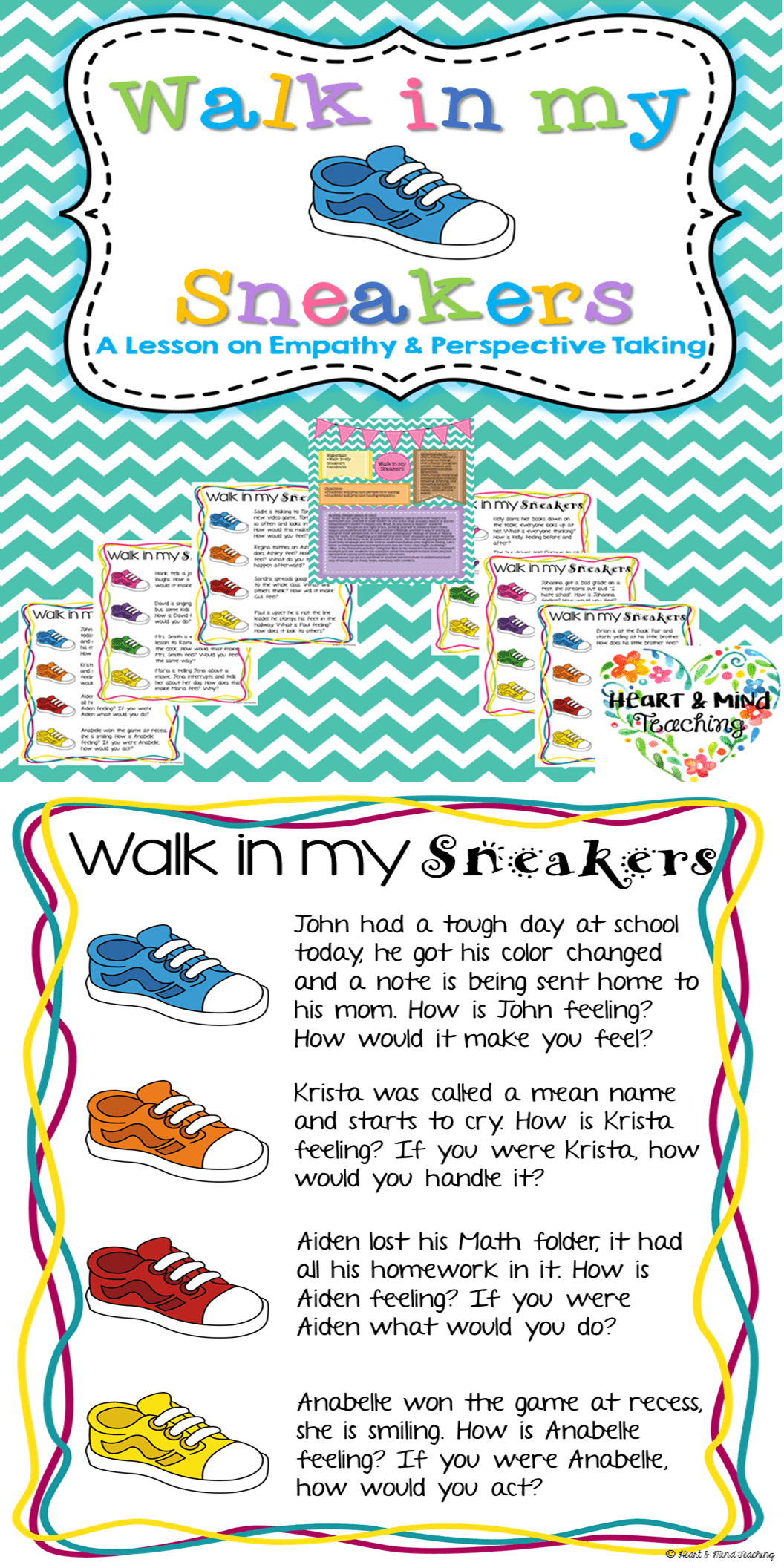 Walk In My Sneakers Empathy Activity Social Emotional