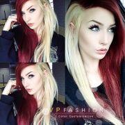 red blonde hair love
