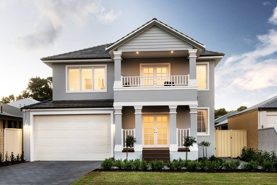 Exterior Inspiration Hamptons Style Grey White 2 Storey New