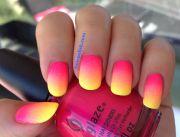 neon acrylic nails