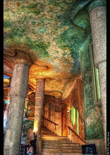 Barcelona_Casa Mil Interior  Gaudi Antoni gaudi and Spain