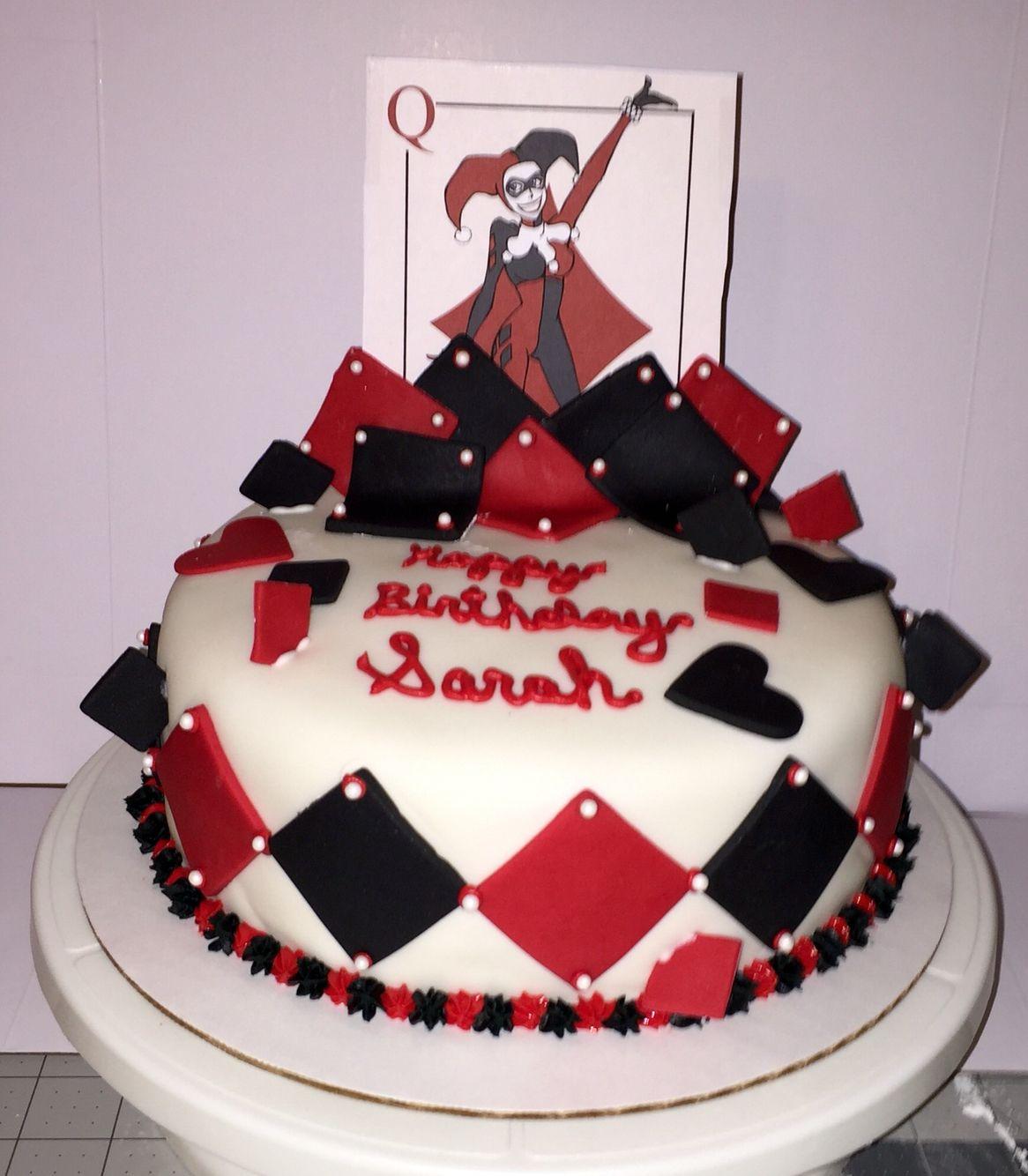 Harley Quinn Cake My Custom Cakes Cupcakes And Cookies