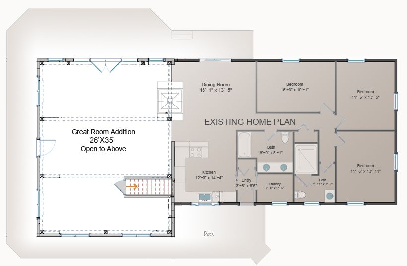 Great Room Addition Plan Post And Beam Addition Barn Style