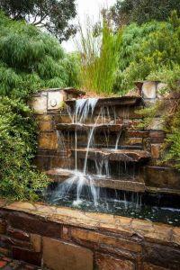 natural look waterfall cascade green landscape outdoor ...