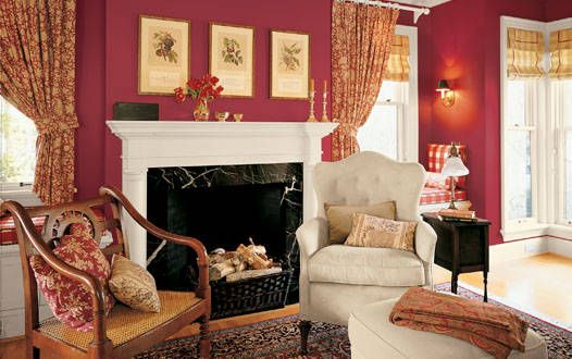 Wall colors we love for the living room cabin red but  different style of also gorgeous muted shade home design  decor pinterest rh