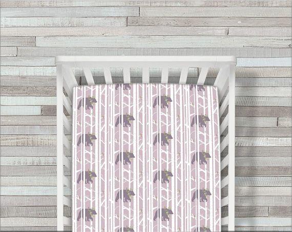 Made To Order Crib Sheet Bedding Bear Woodland Baby Sheets Ed Be