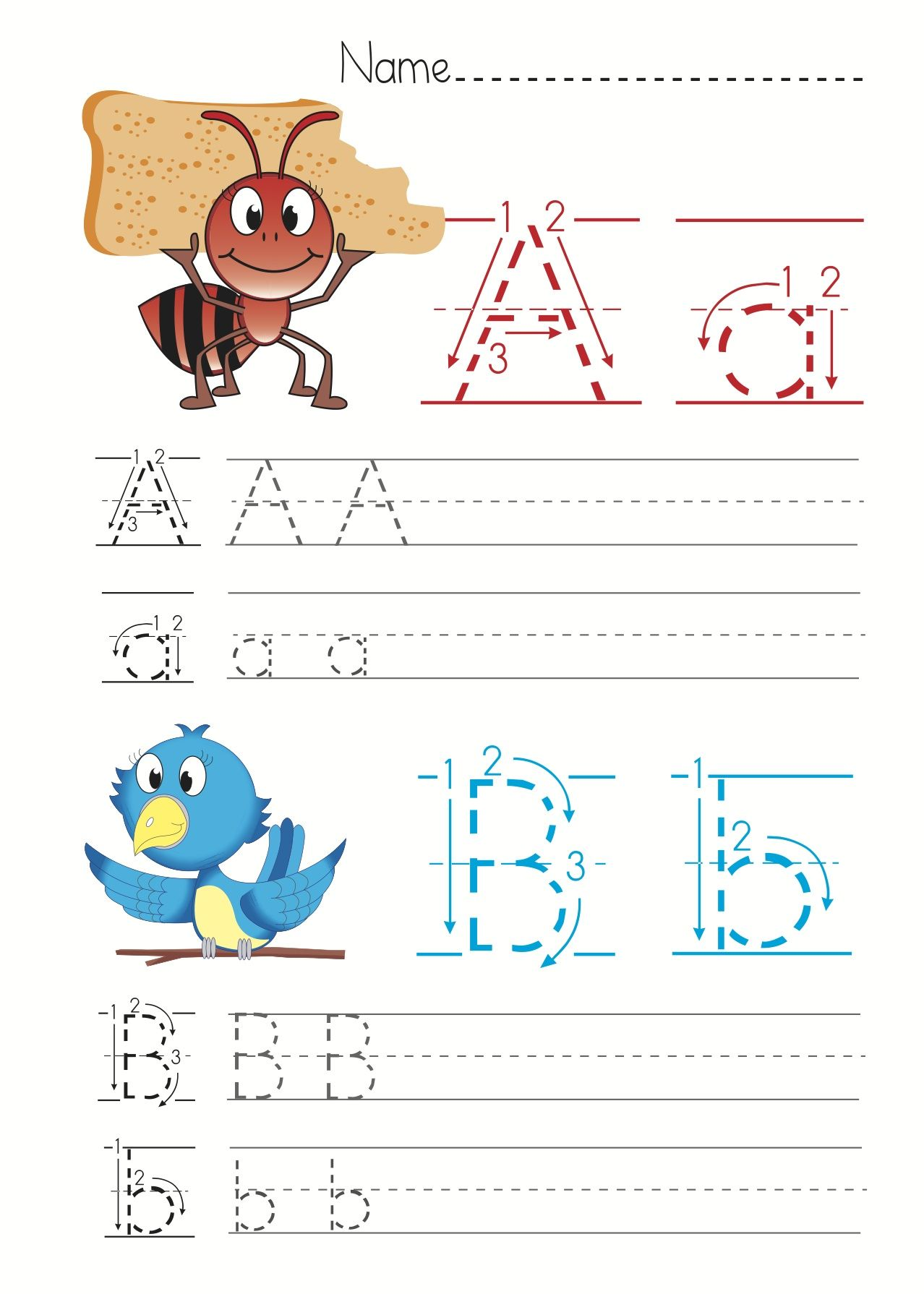 Free Alphabet Letter Worksheets For Children Educational Resources For Preschool