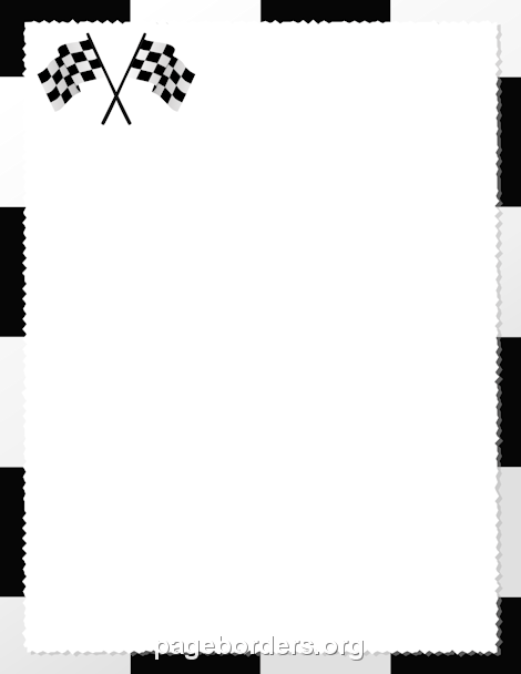 Printable checkered flag border. Use the border in