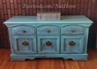 Furniture upcycle shabby chic turquoise blue vintage ...