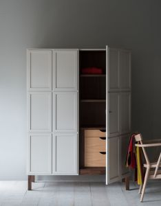 The frey armoire features panelled doors which open to reveal timber lined interiors design productscabinetswardrobesjoineryclosetsstorage also rh nz pinterest