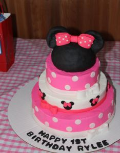 Minnie Mouse St Birthday Cake Also Baby Girl Rh