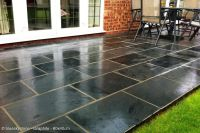Black and Grey Slate Paving Patio Garden Tiles (not slab ...