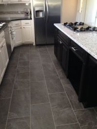 Slate look kitchen tile floor