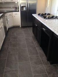Slate look kitchen tile floor