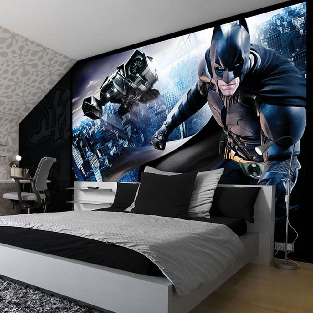 Dc Superhero Girls Bedroom Wallpaper Batman Bedroom Wallpaper Uk Ideal Bedroom Pinterest