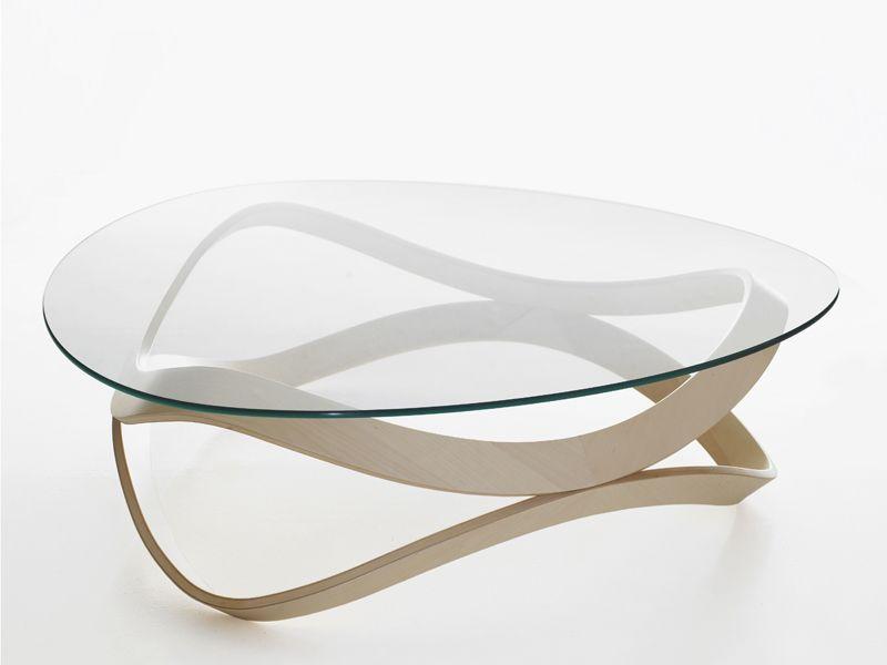 meubles en verre et bois table basse newton karl andersson soner