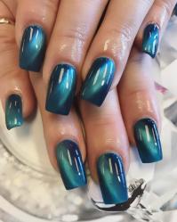 Blue Cat Eye Nails - Nailpro | gel nail designs ...