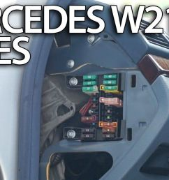 where are fuses and relays in mercedes benz w211 [ 1280 x 720 Pixel ]