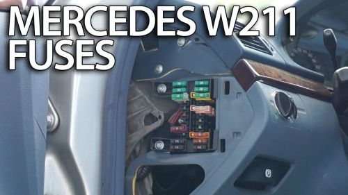 small resolution of where are fuses and relays in mercedes benz w211