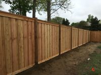 7' tall cedar privacy fence with 6x6 posts, 2x6 top cap, 6 ...