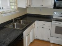 laminate countertops with white cabinets