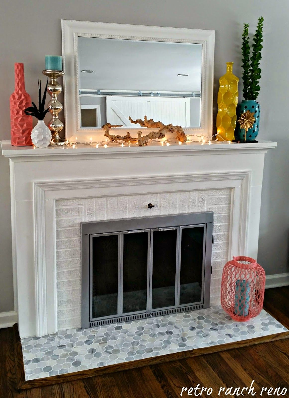Decorating  Paint Brass Fireplace Doors Images