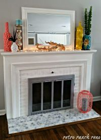 Decorating  Paint Brass Fireplace Doors Images