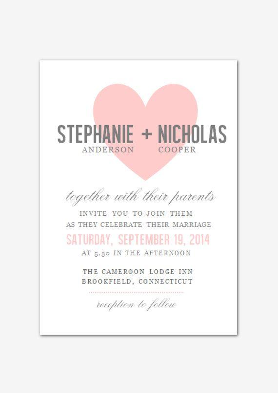 DIY druckbare MS Word Hochzeit Einladung Vorlage W002