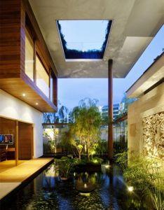 Open house outdoor pool with interior roofing jebiga outdoorpool exteriordesign also rh pinterest