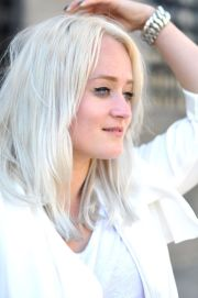 platinum blonde hair natural white