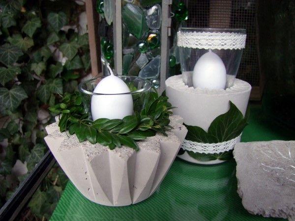 beton windlichter selber machen blessfest gartenarbeit ideen, Garten ideen
