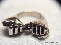 14k White Gold Pinky Promise Ring by Crevier Jewelry