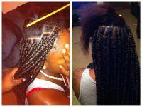 Box braids ( rubber band method ) | hairstyles | Pinterest ...