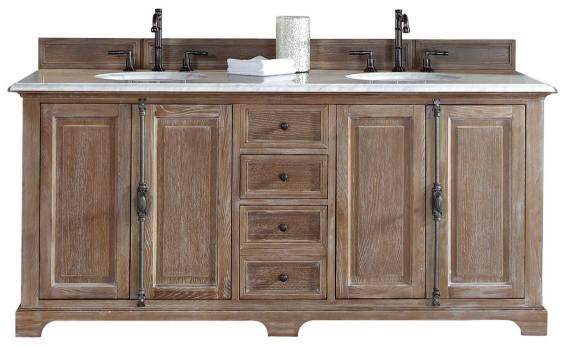 72 Providence Driftwood Double Sink Bathroom Vanity