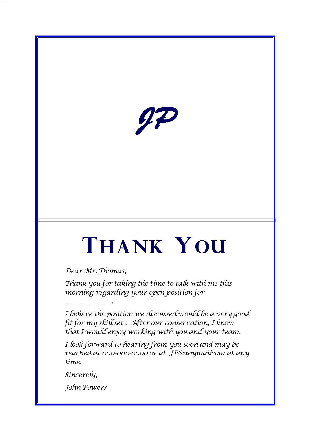 phone interview thank you note example sample war phone interview thank you note example interview thank you note samples for your job search you