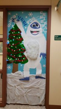 "Office door decoration. Who's ""Yeti"" for Christmas ..."