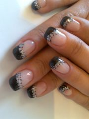 black tip nails party perfect