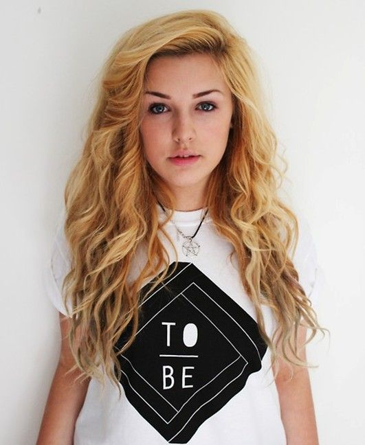 Loose Curly Hairstyles For Teenage Girls Ombre Hair Wavy Hair