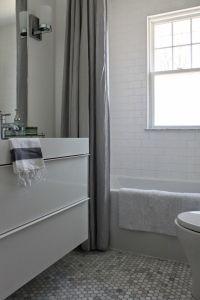 Modern Jane Bathroom Renovation. Marble hexagon and white ...