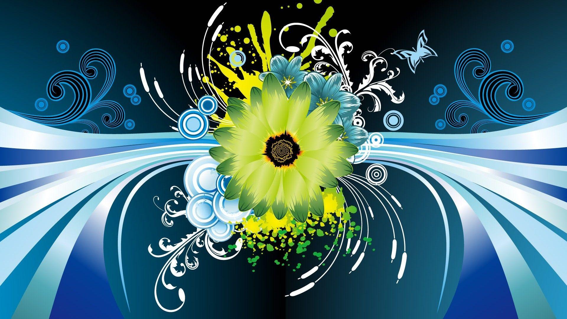 Flower Vector Design HD Wallpaper