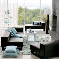 intriguing-living-room-with-aqua-blue-area-rug-and ...
