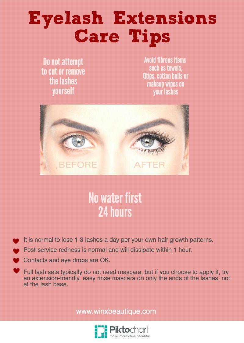 Eyelash extensions care tips from las best lash salon