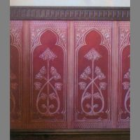 Dado Paneling Gothic paintable Lincrusta wallpaper ...