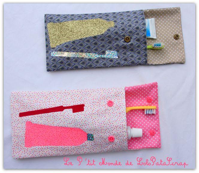 faites le plein d idees customisation mode et decoration blog archive des pochettes pour brosses a dents by lolopatascrap couture pinterest