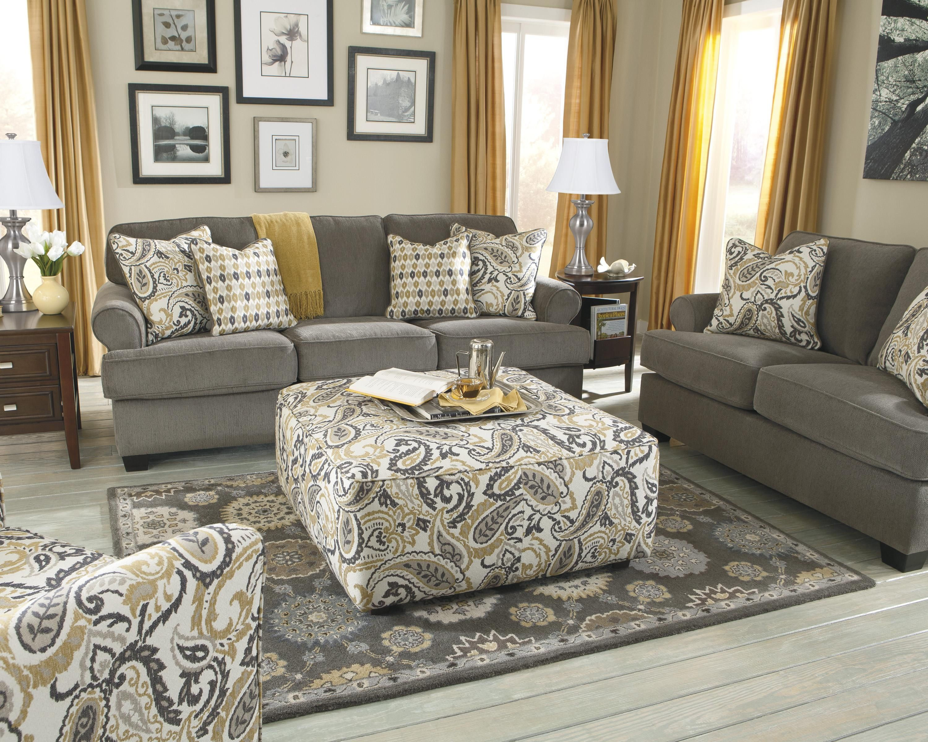 navasota charcoal sofa ashley furniture sleeper sectional sale benchcraft coulson smoke roll arm w accent