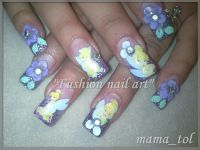 tinkerbell nails art | Tinkerbell nail designs | CHRISTMAS ...