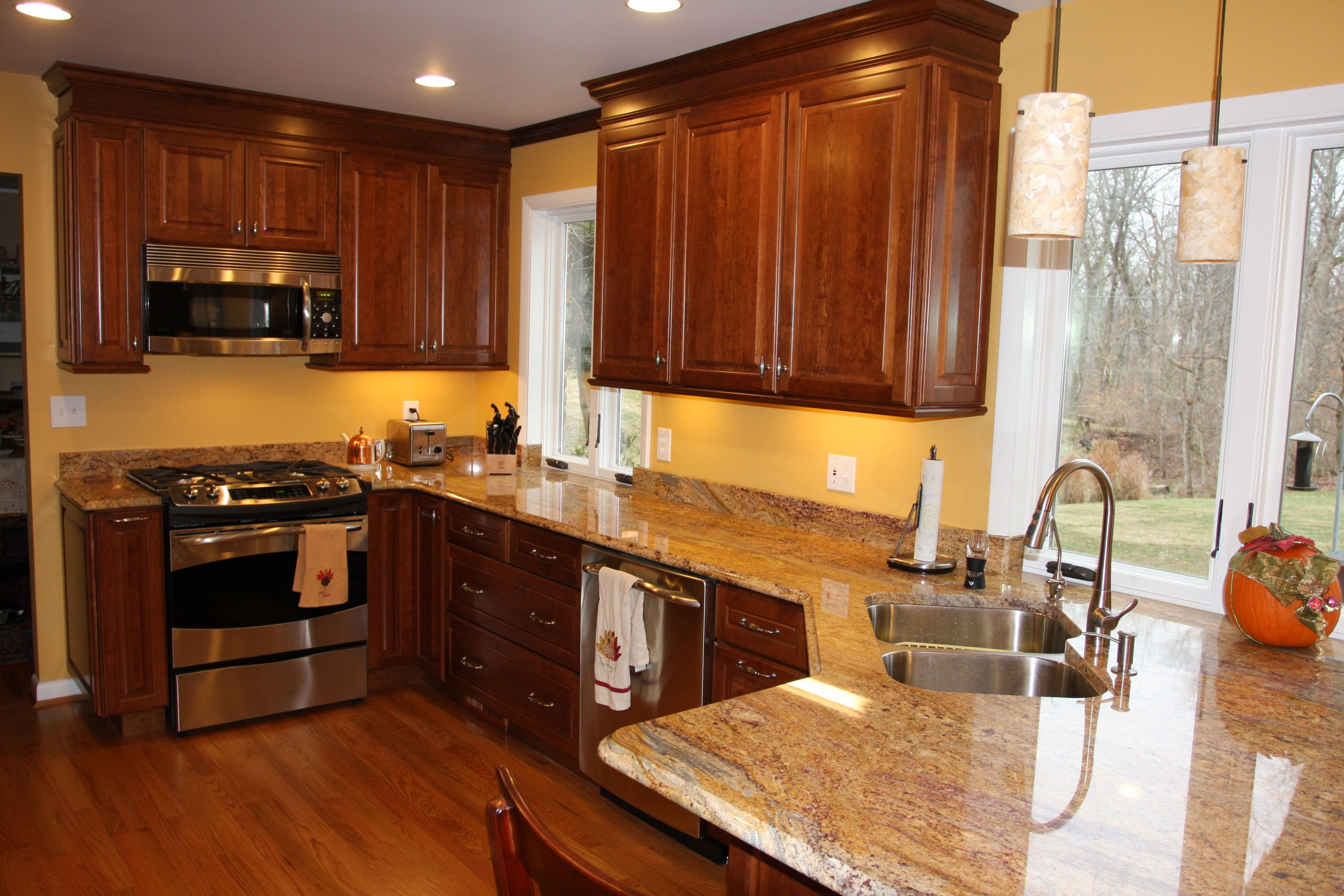 pictures for kitchen walls led lights of kitchens with cherry cabinets one